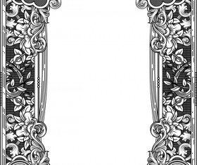 Ornamental frames retro styles vectors 04