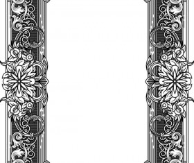 Ornamental frames retro styles vectors 05