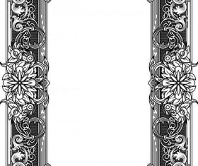 Ornamental frames retro styles vectors 05