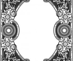 Ornamental frames retro styles vectors 06