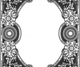 Ornamental frames retro styles vectors 06