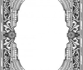 Ornamental frames retro styles vectors 07
