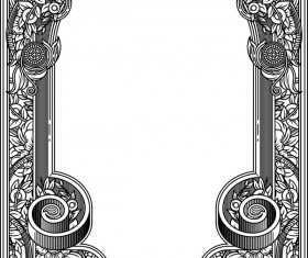Ornamental frames retro styles vectors 08
