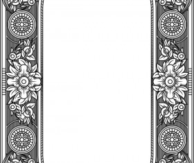 Ornamental frames retro styles vectors 09