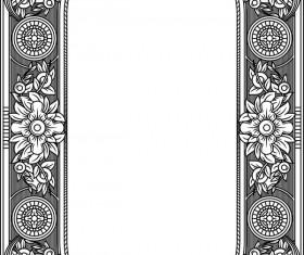Ornamental frames retro styles vectors 09
