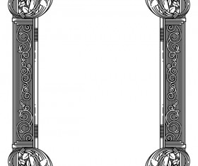 Ornamental frames retro styles vectors 10
