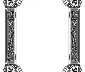 Ornamental frames retro styles vectors 10