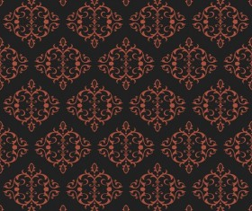 Ornate seamless pattern ornaments vector 09