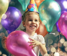 Pass birthday little girl Stock Photo