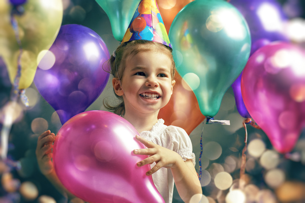 Pass birthday little girl Stock Photo
