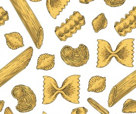 Pasta seamless pattern vector