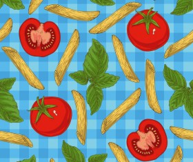 Penne seamless pattern vector