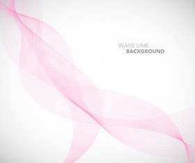 Pink wavy line background illustration vector 01