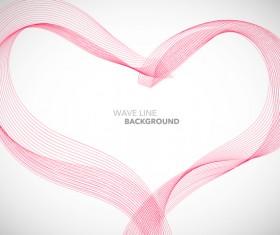 Pink wavy line background illustration vector 02
