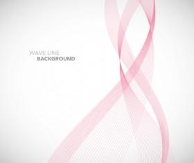 Pink wavy line background illustration vector 03
