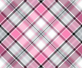 Plaid pattern design vector 01