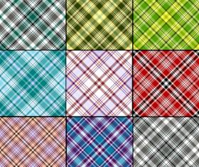 Plaid pattern design vector 02