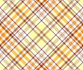 Plaid pattern design vector 03