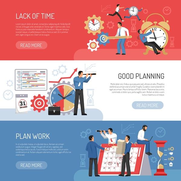 Planning schedule banners vector