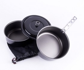 Portable cookware Stock Photo