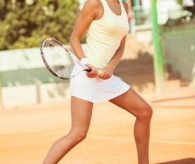 Pretty woman tennis player Stock Photo 10