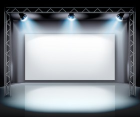 Projection screen with sportlight vector