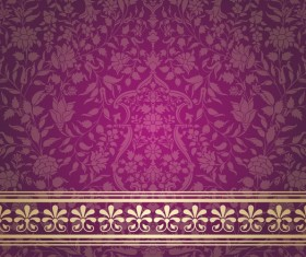 Purple decor pattern vector design 01