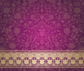 Purple decor pattern vector design 02