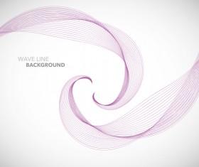 Purple wavy line background illustration vector