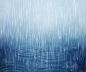 Rain water background vector