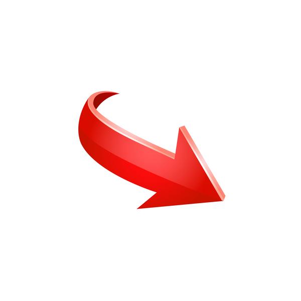 Red 3D arrow vector