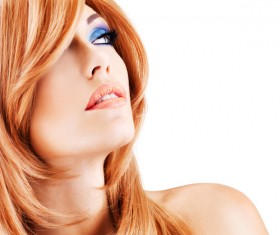 Red-haired woman of fashion make-up Stock Photo 01