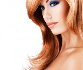 Red-haired woman of fashion make-up Stock Photo 02