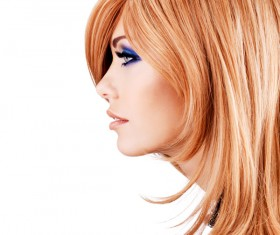 Red-haired woman of fashion make-up Stock Photo 05