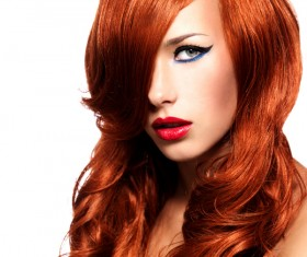 Red-haired woman of fashion make-up Stock Photo 06
