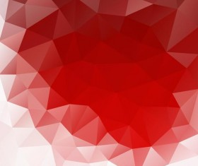 Red polygonal backgrounds abstract vector