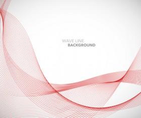 Red wavy line background illustration vector 01