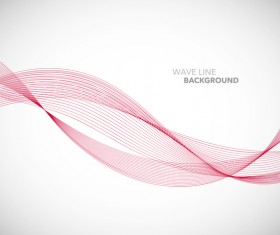 Red wavy line background illustration vector 02