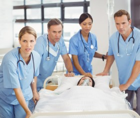 Rescue patients emergency doctor Stock Photo
