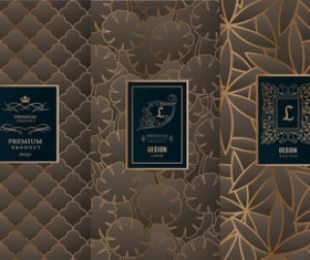 Retro luxury ornament cover template vector 01