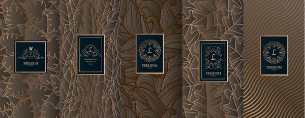 Retro luxury ornament cover template vector 02