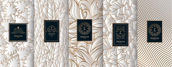 Retro luxury ornament cover template vector 03