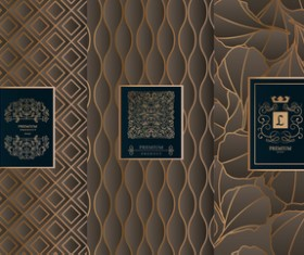 Retro luxury ornament cover template vector 04