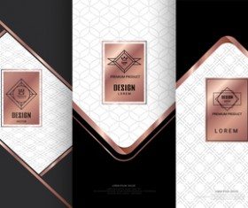 Retro luxury ornament cover template vector 05