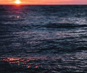 Ripple sea at sunset Stock Photo