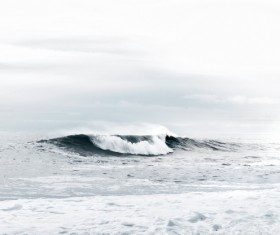 Roaring waves Stock Photo