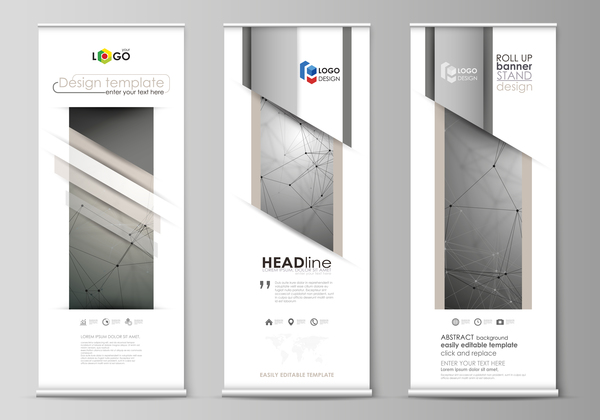 Scroll business template vectors material
