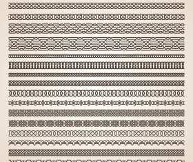 Seamless borders vintage vectors 01