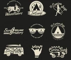 Serf logos vector material