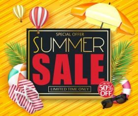 Set of summer sale background design vectors 02